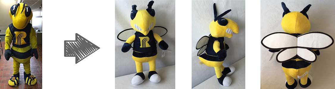 custom plush mascots - rochester university
