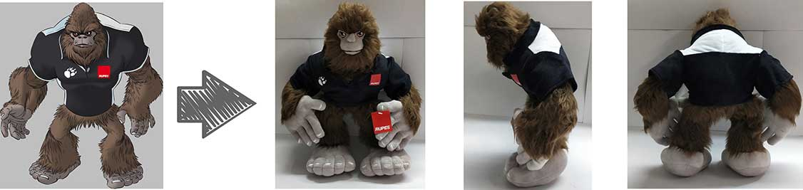 custom plush - corporate giveaways - rupes usa inc.
