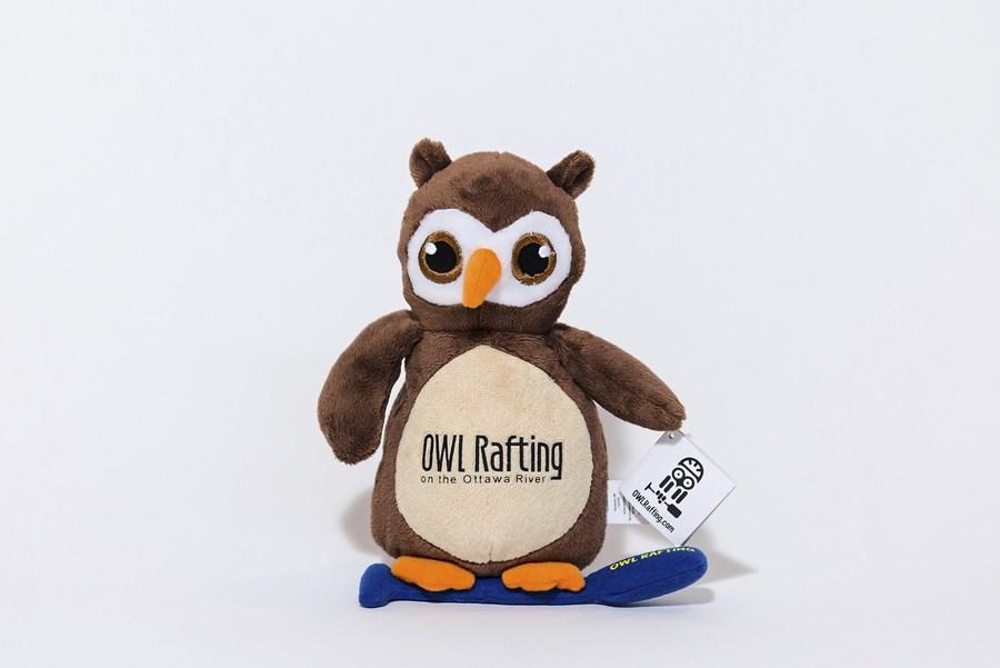 Branded Custom Plush Owl Toy -Owl Rafting