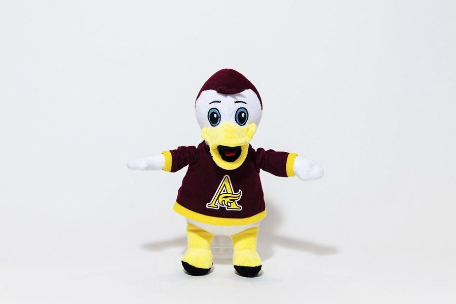 Custom Plush Mascot -Mount Allison Mounties Duck