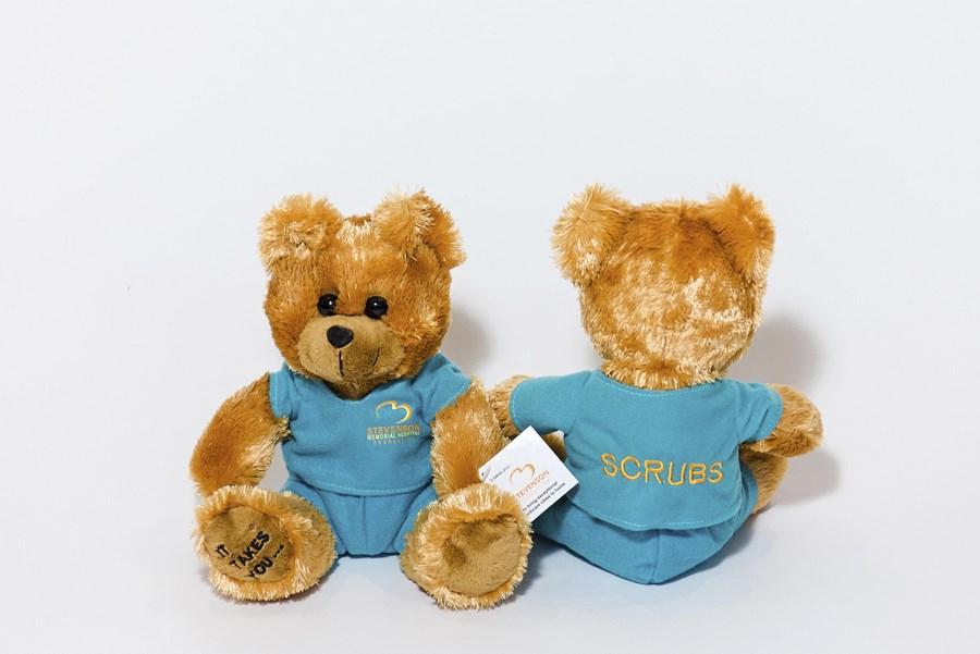 Custom Plush Teddy Bears in Branded Scrubs