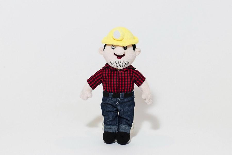 Custom Plush Toy - Man in Work Clothing