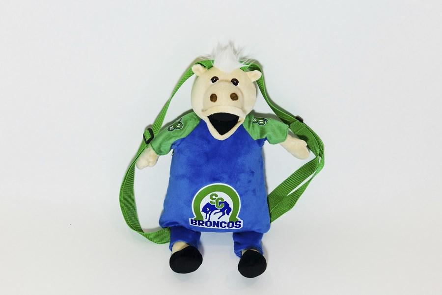 Branded Custom Plush Backpack - Horse