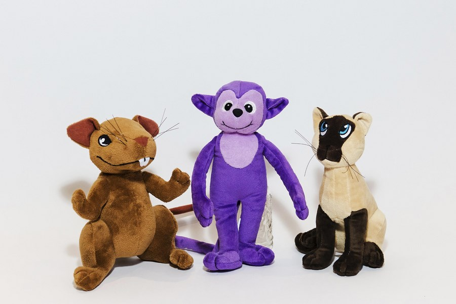 Custom Plush Toy Characters for Book Promotion - Leo, Harry, Duchess