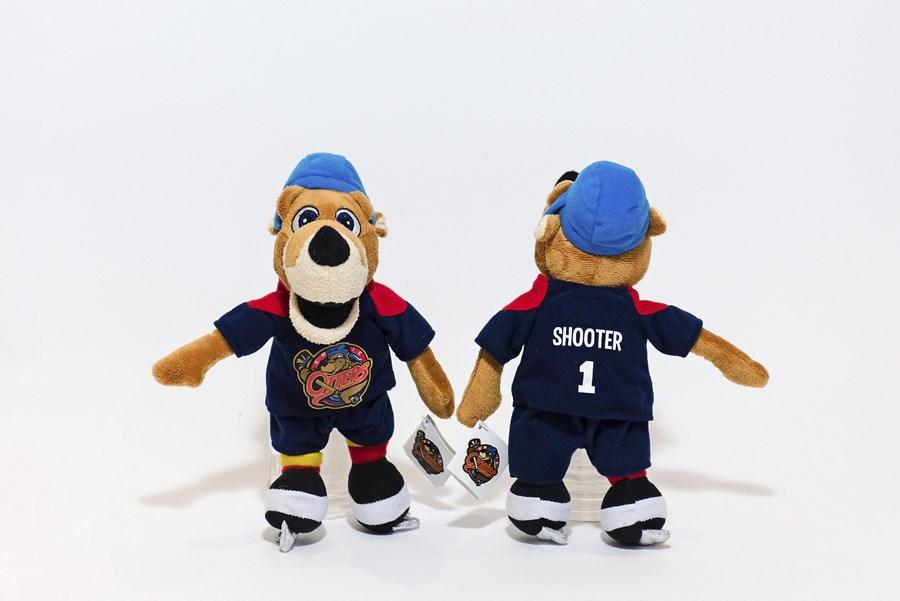 custom plush mascot toys erie otters erie michigan