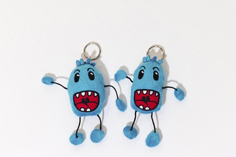 Branded Custom Plush Keychain Toys -Quebec Cancer Foundation