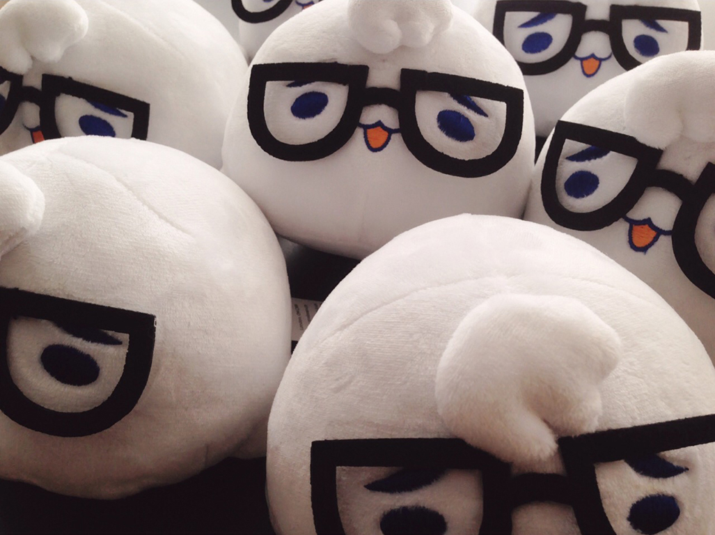 Life Happens custom plush