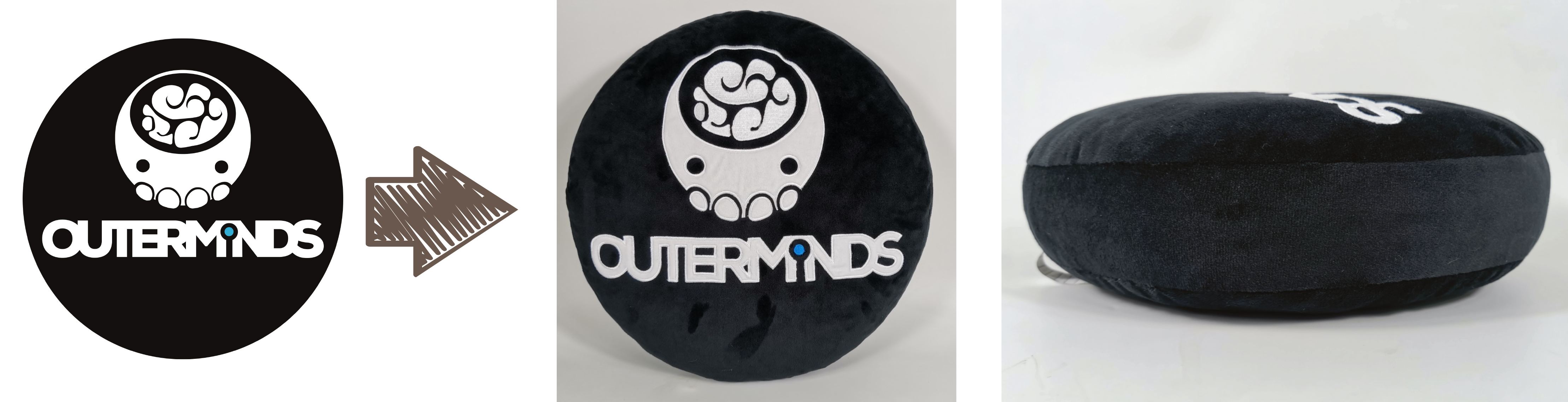 Outerminds logo pillow