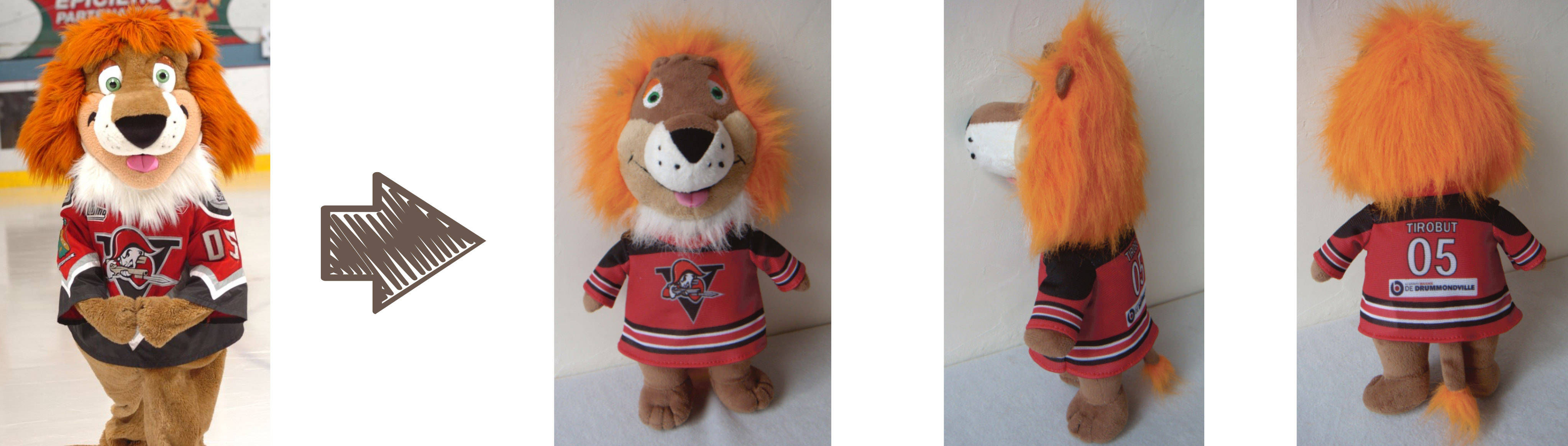 Drummondville Voltigeurs mascot stuffed animal