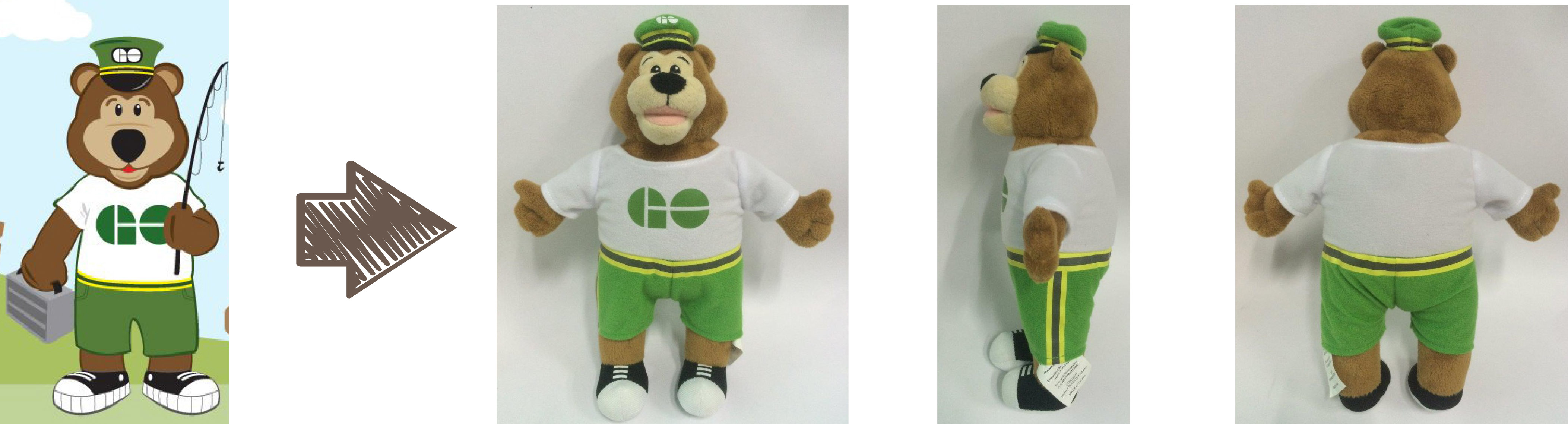 Go Transit mascot stuffed animal