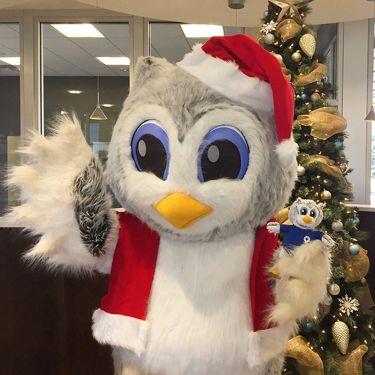 Greenville Federal Credit Union custom mascot stuffed animal