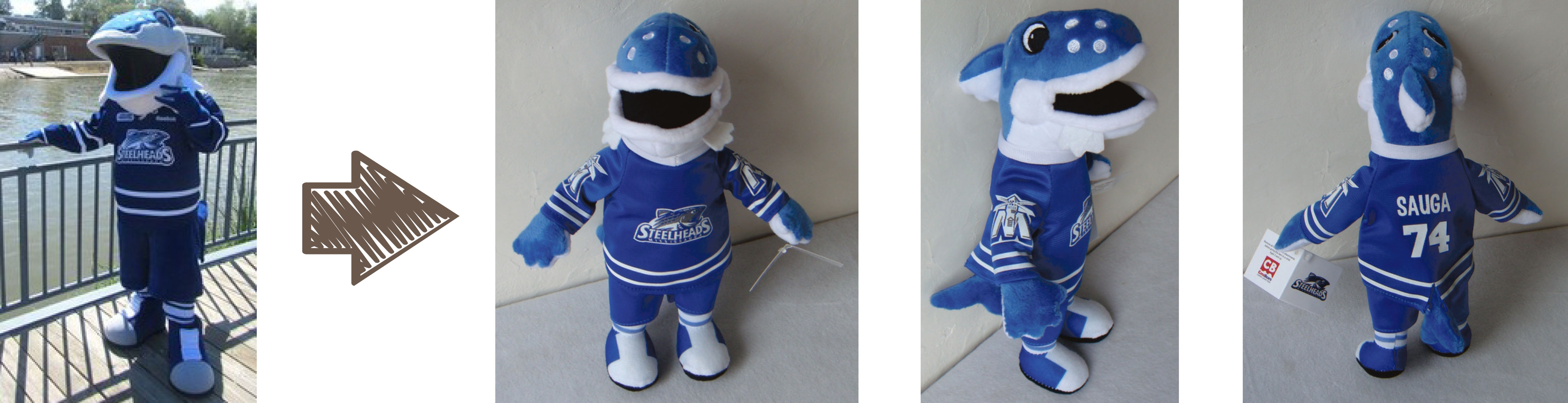 Mississauga Steelheads mascot stuffed animal