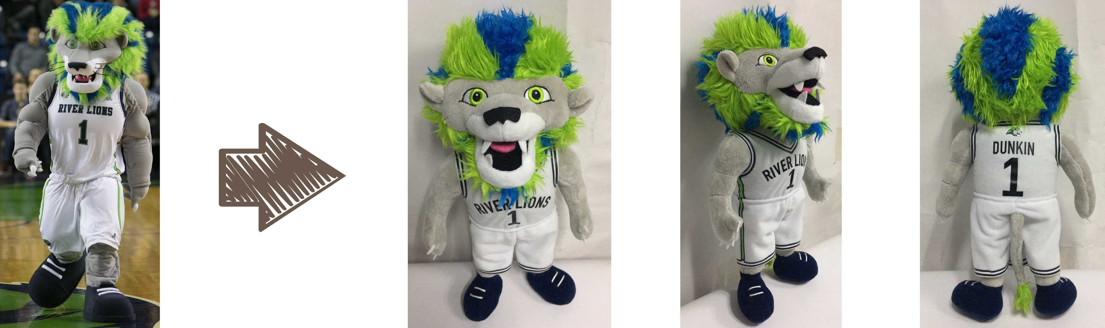 Niagara River Lions mascot stuffed animal