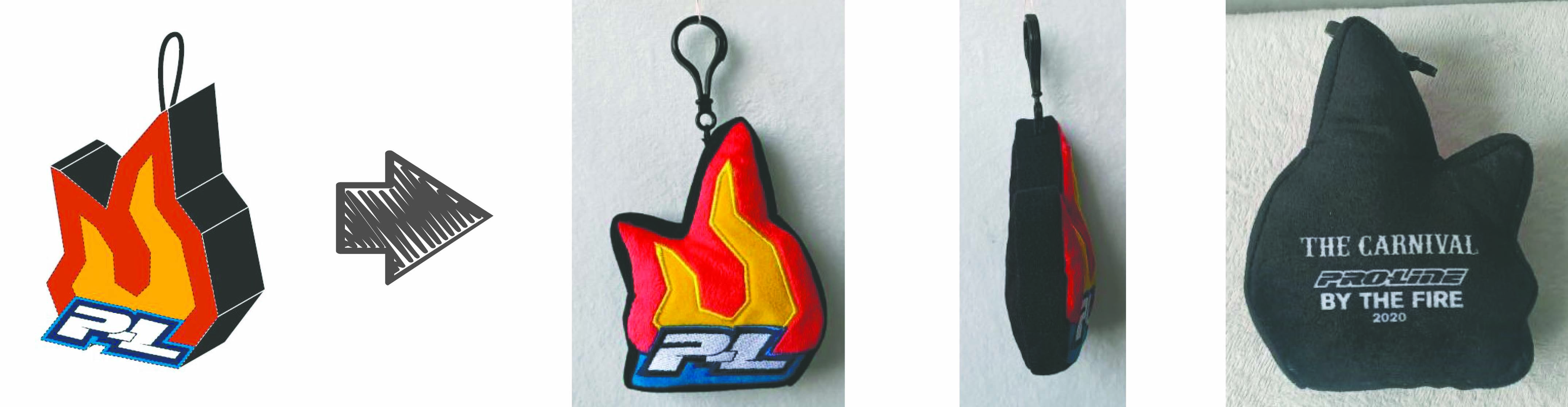 Pro Line Racing stuffed animal keychain