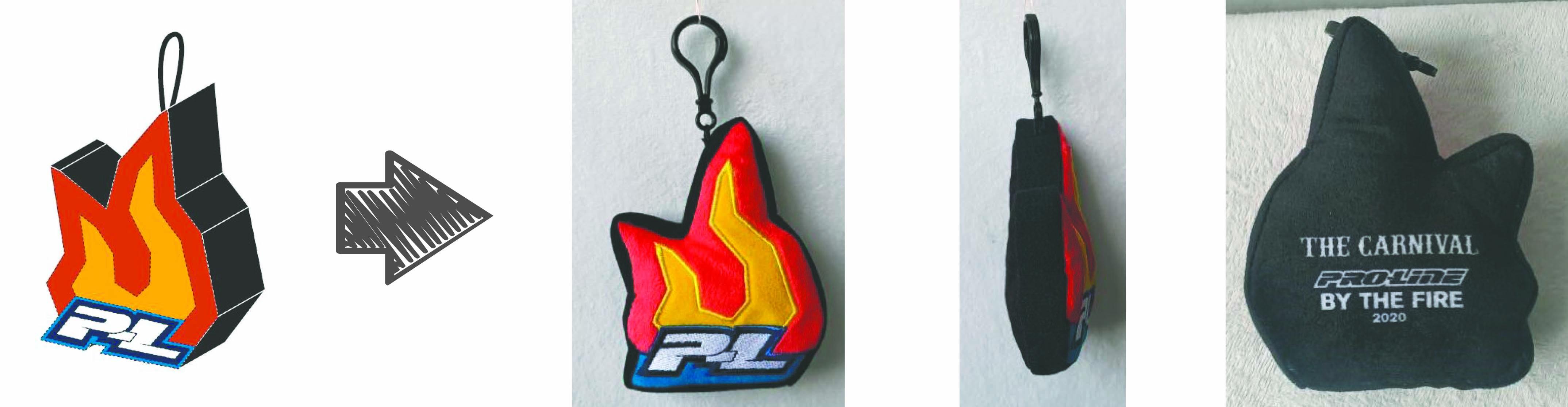 Pro Line Racing stuffed animal keychain