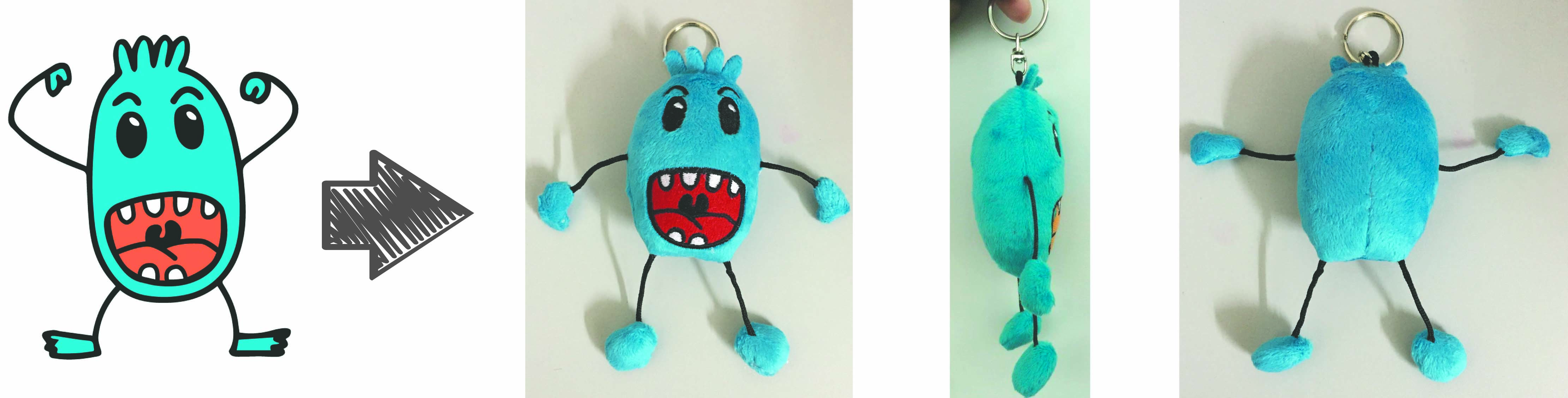 Quebec Cancer stuffed animal keychain